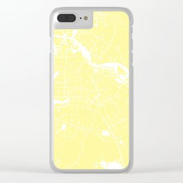 Amsterdam Yellow on White Street Map Clear iPhone Case