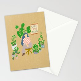 LIFE LOVE PLANTS Stationery Cards