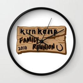 Kern Family Reunion 2018 Wall Clock