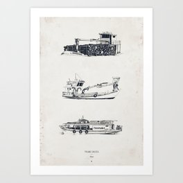 Tigre Delta: Ships Part Two Art Print