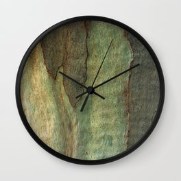 Eucalyptus Tree Bark 6 Wall Clock