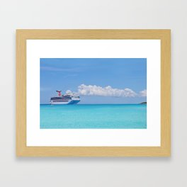 Cruisin' the Caribbean Framed Art Print
