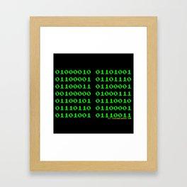 Binaire Gervais Framed Art Print