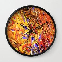 Purpura Flamma Detail Wall Clock