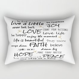 Life Quote Affirmations Rectangular Pillow
