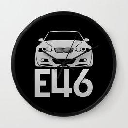 BMW E46 M3 - silver - Wall Clock