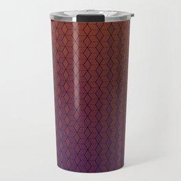 Gradient cube pattern warm Travel Mug