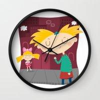 arnold Wall Clocks featuring Arnold by Maria Jose Da Luz