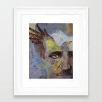 poe Framed Art Prints featuring Poe by Michael Creese