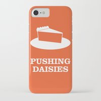 pushing daisies iPhone & iPod Cases featuring Pushing Daisies by MacGuffin Designs
