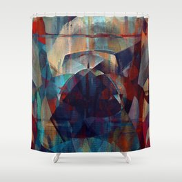 I face every hurdle, with a nervous state of mind Shower Curtain