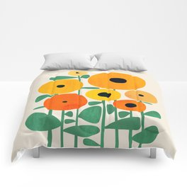 Sunflower and Bee Comforters