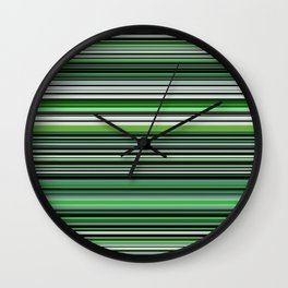 Emerald & Forest Stripes Wall Clock