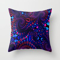 psycho Throw Pillows featuring Psycho by Sr. xx