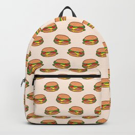 Burger pattern Backpack
