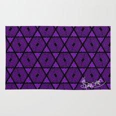 Kagome Greek Fret ... Purple Rug