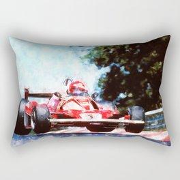 Niki Lauda, Nurburgring Rectangular Pillow