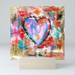 Reckless Heart, Abstract Painting Mini Art Print