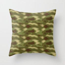 Camo pattern Throw Pillow