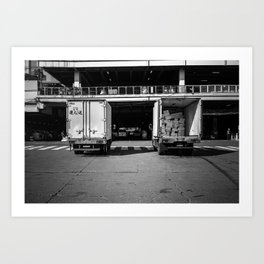 Trucks Art Print