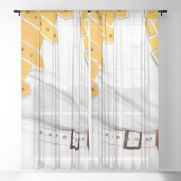 Legend, music painting Sheer Curtain
