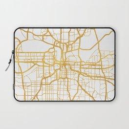 KANSAS CITY MISSOURI CITY STREET MAP ART Laptop Sleeve