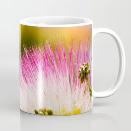 Exotic summer pink silk tree mimosa flower Coffee Mug