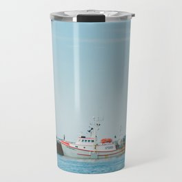Boats and Turquoise sky Travel Mug