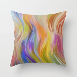 Abstract painting color texture 6 Throw Pillow