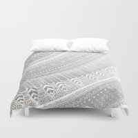 silver Duvet Covers featuring Silver by rskinner1122