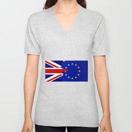 Union Jack and EU Blend Unisex V-Neck