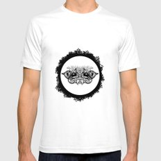 Half Creature White SMALL Mens Fitted Tee