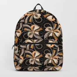 Decorative ornate luxury bow-tie. Black background. 1 Backpack