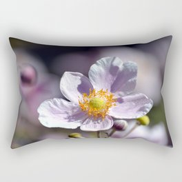 Pretty in White and Purple Rectangular Pillow