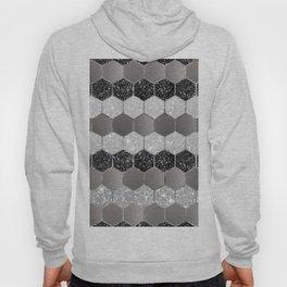 Silver Hexagon Glitter Glam #1 #geometric #decor #art #society6 Hoody