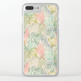 Flowing sea Clear iPhone Case