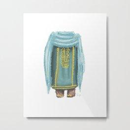 Omani Lady | Blue  Metal Print
