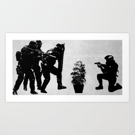 Police brutality coming up Art Print