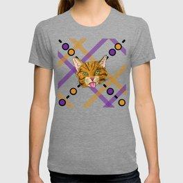 Orange Tabby Cat Plaid T-shirt