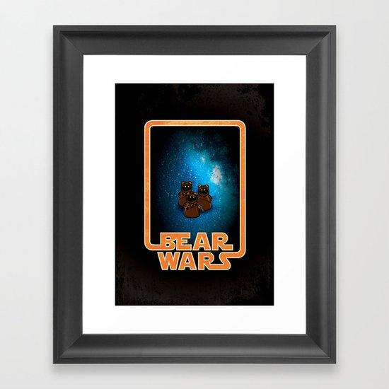 Bear Wars - the Wawas Framed Art Print