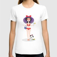 martini T-shirts featuring Martini Girl by Jyoti Khetan
