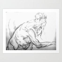 aman standing Art Print