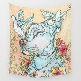Peaceful Pitbull Wall Tapestry
