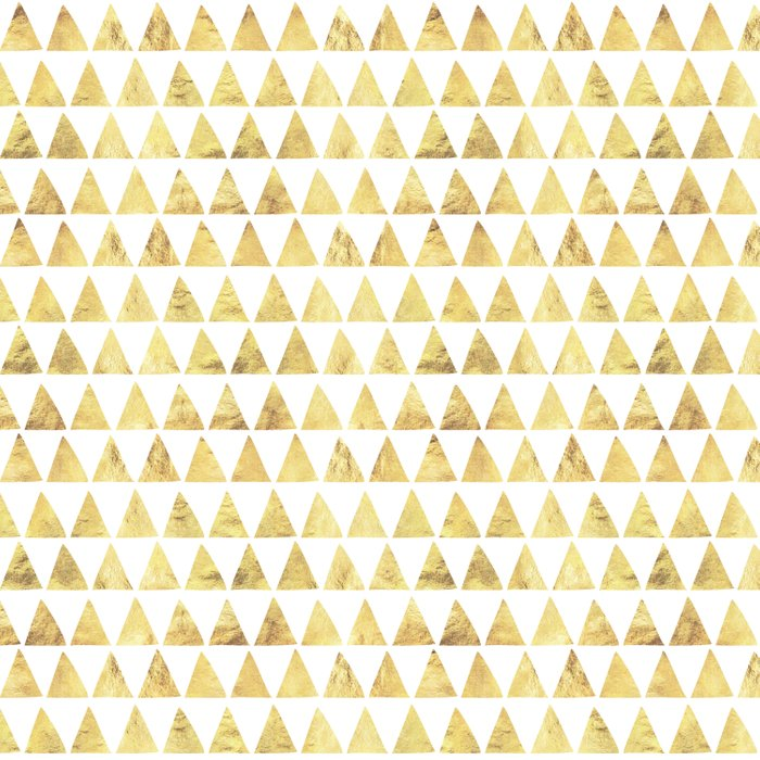 Triangles gold 6 Duvet Cover