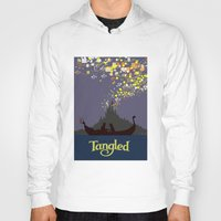 tangled Hoodies featuring Tangled by TheWonderlander