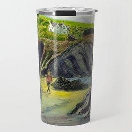 Llangrannog beach, Wales Travel Mug