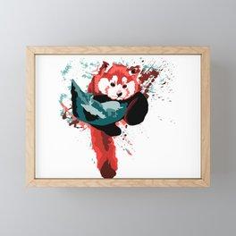 Vibrant Red Panda in a Tree Framed Mini Art Print