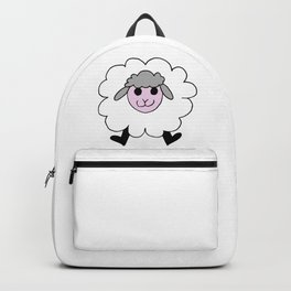 Hand drawing of a funny looking sheep Backpack