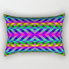 Rainbow Scaffolding Rectangular Pillow