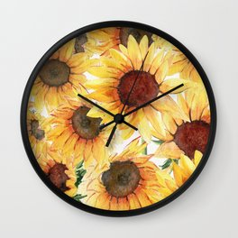Sunflowers Bloom  Wall Clock